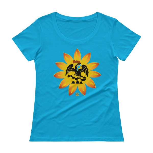 Mexica Flag Ladies' Scoopneck T-Shirt